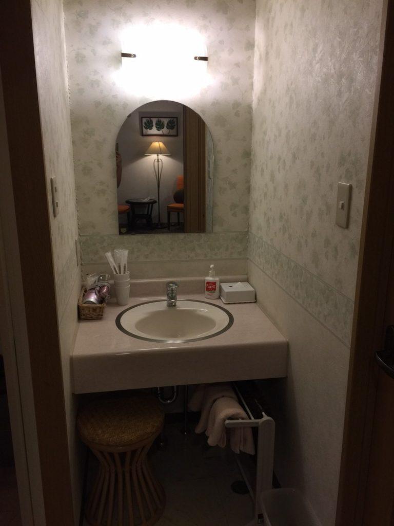 プチホテル ユーフィール 洗面台