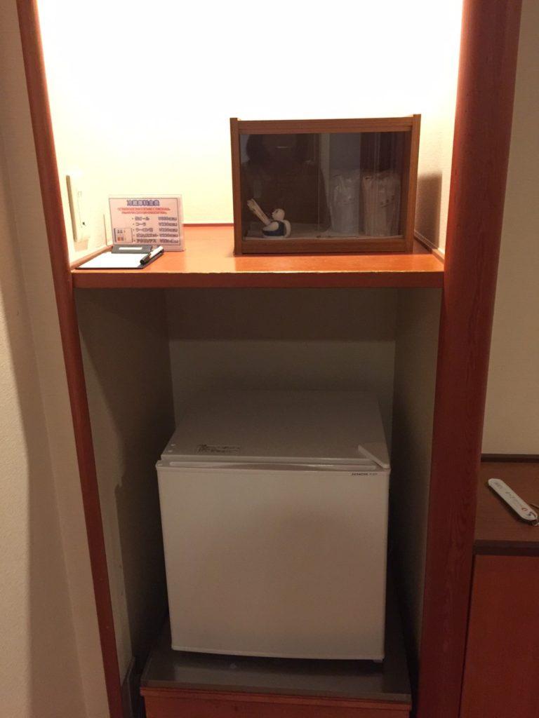 きぬ川ホテル三日月さくら亭 冷蔵庫
