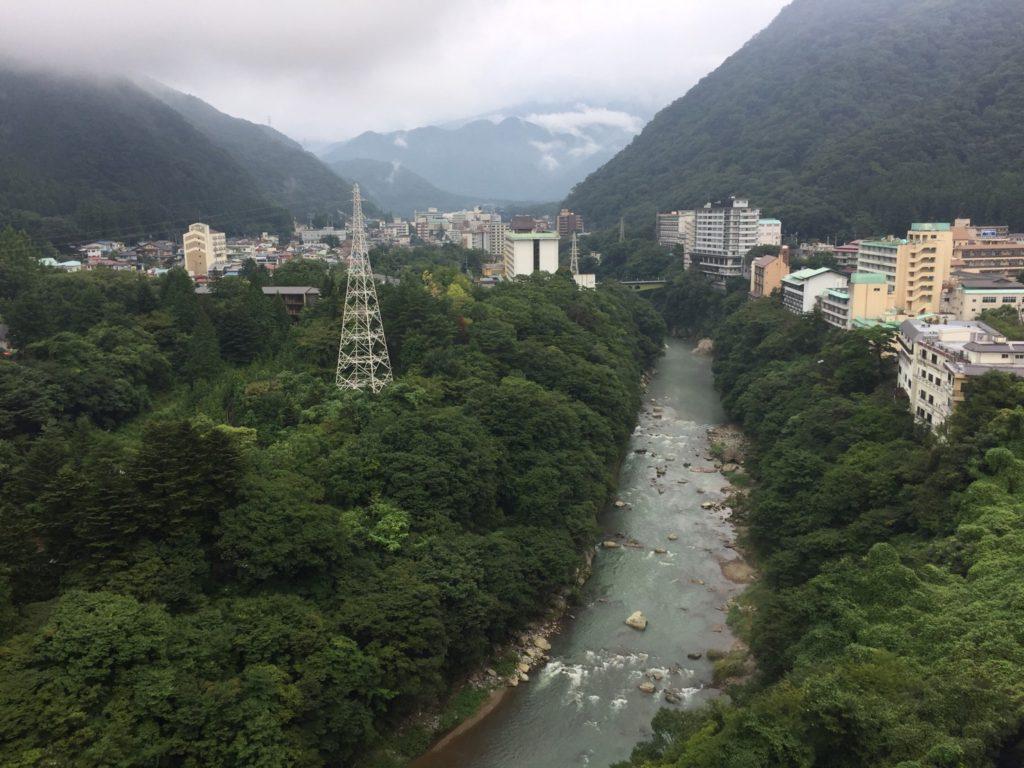 きぬ川ホテル三日月さくら亭からの景色