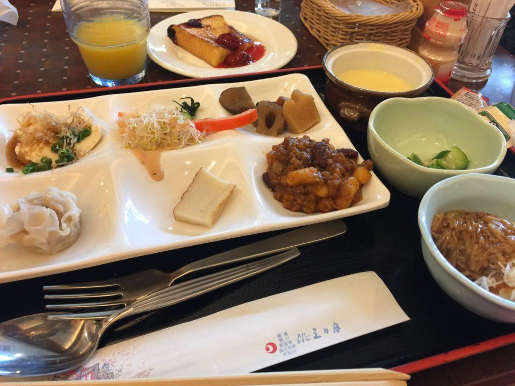 きぬ川ホテル三日月の朝食